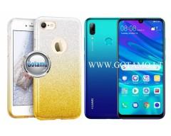 iLLuminaTe silikoninis dėklas nugarėlė Huawei P Smart Pro (2019) Huawei Y9 Prime telefonams aukso spalvos