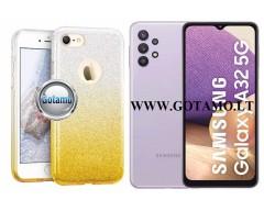 iLLuminaTe silikoninis dėklas nugarėlė Samsung Galaxy A32 5G telefonams aukso spalvos
