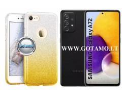 iLLuminaTe silikoninis dėklas nugarėlė Samsung Galaxy A72 telefonams aukso spalvos