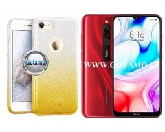 iLLuminaTe silikoninis dėklas nugarėlė Xiaomi Redmi 8 8A telefonams aukso spalvos