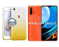 iLLuminaTe silikoninis dėklas nugarėlė Xiaomi Redmi 9T, Xiaomi Poco M3 telefonams aukso spalvos