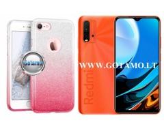 iLLuminaTe silikoninis dėklas nugarėlė Xiaomi Redmi 9T, Xiaomi Poco M3 telefonams rožinės spalvos