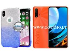 iLLuminaTe silikoninis dėklas nugarėlė Xiaomi Redmi 9T, Xiaomi Poco M3 telefonams žydros spalvos