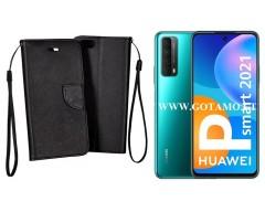 Manager dėklas Huawei P Smart 2021 mobiliesiems telefonams juodos spalvos