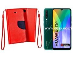 Manager dėklas Huawei Y6p mobiliesiems telefonams raudonos spalvos