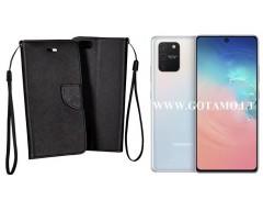 Manager dėklas Samsung Galaxy S10 Lite mobiliesiems telefonams juodos spalvos