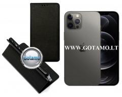 Re-Grid magnetinis dėklas Apple iPhone 12, Apple iPhone 12 Pro mobiliesiems telefonams juodos spalvos