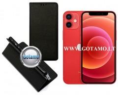 Re-Grid magnetinis dėklas Apple iPhone 12 mini mobiliesiems telefonams juodos spalvos