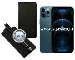 Re-Grid magnetinis dėklas Apple iPhone 12 Pro Max mobiliesiems telefonams juodos spalvos