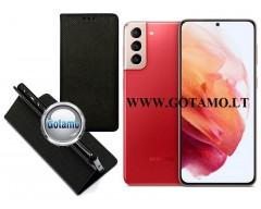 Re-Grid magnetinis dėklas Samsung Galaxy S21+ 5G mobiliesiems telefonams juodos spalvos