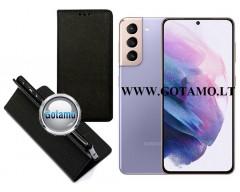 Re-Grid magnetinis dėklas Samsung Galaxy S21 mobiliesiems telefonams juodos spalvos