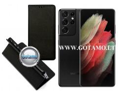 Re-Grid magnetinis dėklas Samsung Galaxy S21 Ultra 5G mobiliesiems telefonams juodos spalvos