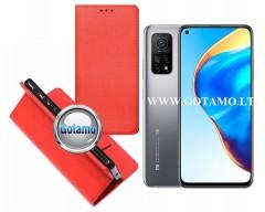 Re-Grid magnetinis dėklas Xiaomi Mi 10T, Xiaomi Mi 10T Pro telefonams raudonos spalvos