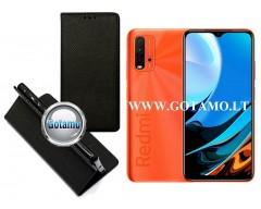 Re-Grid magnetinis dėklas Xiaomi Redmi 9T, Xiaomi Poco M3 mobiliesiems telefonams juodos spalvos