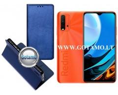 Re-Grid magnetinis dėklas Xiaomi Redmi 9T, Xiaomi Poco M3 mobiliesiems telefonams mėlynos spalvos