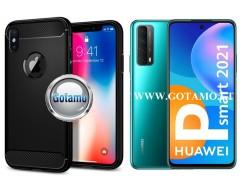 Siege dėklas nugarėlė Huawei P Smart 2021 mobiliesiems telefonams juodos spalvos