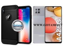 Siege dėklas nugarėlė Samsung Galaxy A42 5G mobiliesiems telefonams juodos spalvos