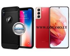 Siege dėklas nugarėlė Samsung Galaxy S21+ 5G mobiliesiems telefonams juodos spalvos