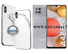 Skin silikoninis dėklas 2MM storio Samsung Galaxy A42 5G telefonams