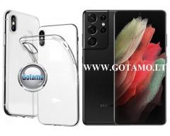 Skin silikoninis dėklas 2MM storio Samsung Galaxy S21 Ultra 5G telefonams