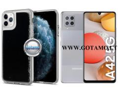 Waterfall2 dėklas nugarėlė Samsung Galaxy A42 5G telefonams juodos spalvos