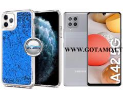 Waterfall2 dėklas nugarėlė Samsung Galaxy A42 5G telefonams mėlynos spalvos