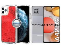 Waterfall2 dėklas nugarėlė Samsung Galaxy A42 5G telefonams raudonos spalvos
