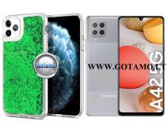 Waterfall2 dėklas nugarėlė Samsung Galaxy A42 5G telefonams žalios spalvos