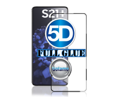 Apsauga ekranui gaubtas grūdintas stiklas Samsung Galaxy S21+ 5G mobiliesiems telefonams juodos spalvos 5D pilnas padengimas klijais