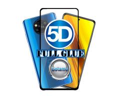 Apsauga ekranui gaubtas grūdintas stiklas Xiaomi Poco X3, Xiaomi Poco X3 NFC mobiliesiems telefonams juodos spalvos 5D pilnas padengimas klijais