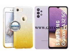 iLLuminaTe silikoninis dėklas nugarėlė Samsung Galaxy A32 telefonams aukso spalvos