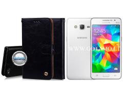 Odyssey dėklas Samsung Galaxy Grand Prime telefonams juodos spalvos