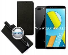 Re-Grid magnetinis dėklas Huawei Honor 9 Lite telefonams juodos spalvos