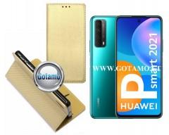 Re-Grid magnetinis dėklas Huawei P Smart 2021 telefonams aukso spalvos