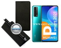 Re-Grid magnetinis dėklas Huawei P Smart 2021 telefonams juodos spalvos