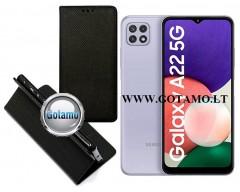 Re-Grid magnetinis dėklas Samsung Galaxy A22 5G telefonams juodos spalvos