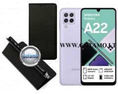 Re-Grid magnetinis dėklas Samsung Galaxy A22 telefonams juodos spalvos