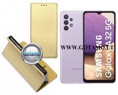 Re-Grid magnetinis dėklas Samsung Galaxy A32 5G telefonams aukso spalvos