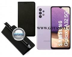 Re-Grid magnetinis dėklas Samsung Galaxy A32 5G telefonams juodos spalvos