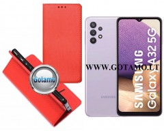 Re-Grid magnetinis dėklas Samsung Galaxy A32 5G telefonams raudonos spalvos