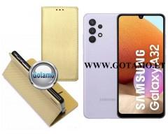 Re-Grid magnetinis dėklas Samsung Galaxy A32 mobiliesiems telefonams aukso spalvos
