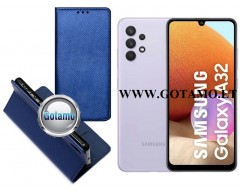 Re-Grid magnetinis dėklas Samsung Galaxy A32 mobiliesiems telefonams mėlynos spalvos