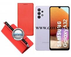 Re-Grid magnetinis dėklas Samsung Galaxy A32 mobiliesiems telefonams raudonos spalvos