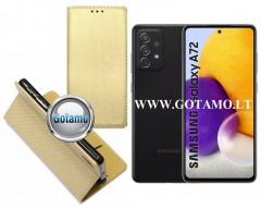 Re-Grid magnetinis dėklas Samsung Galaxy A72 telefonams aukso spalvos
