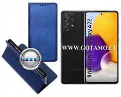 Re-Grid magnetinis dėklas Samsung Galaxy A72 telefonams mėlynos spalvos
