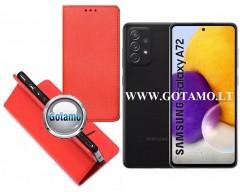 Re-Grid magnetinis dėklas Samsung Galaxy A72 telefonams raudonos spalvos