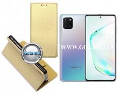 Re-Grid magnetinis dėklas Samsung Galaxy Note 10 Lite telefonams aukso spalvos