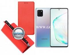 Re-Grid magnetinis dėklas Samsung Galaxy Note 10 Lite telefonams raudonos spalvos