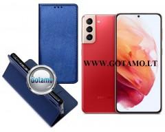 Re-Grid magnetinis dėklas Samsung Galaxy S21+ 5G mobiliesiems telefonams mėlynos spalvos