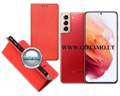 Re-Grid magnetinis dėklas Samsung Galaxy S21+ 5G mobiliesiems telefonams raudonos spalvos